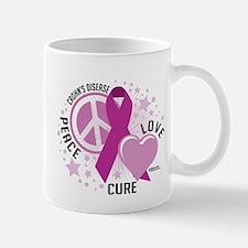 Crohn's Disease Peace Love Cu Mug