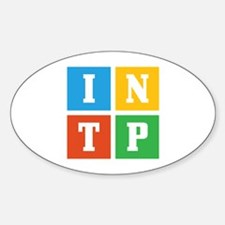 Myers-Briggs INTP Sticker (Oval)