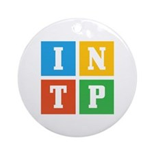 Myers-Briggs INTP Ornament (Round)