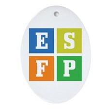 Myers-Briggs ESFP Ornament (Oval)