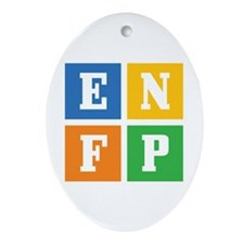 Myers-Briggs ENFP Ornament (Oval)