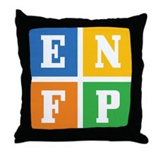 Myers-Briggs ENFP Throw Pillow