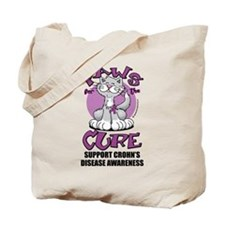Paws For The Cure Crohn's Dis Tote Bag