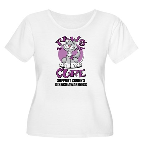 Paws For The Cure Crohn's Dis Women's Plus Size Sc
