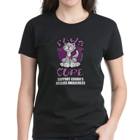 Paws For The Cure Crohn's Dis Women's Dark T-Shirt
