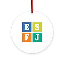 Myers-Briggs ESFJ Ornament (Round)