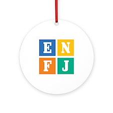Myers-Briggs ENFJ Ornament (Round)