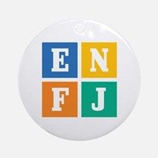 Myers-Briggs ENFJ Round Ornament