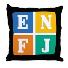 Myers-Briggs ENFJ Throw Pillow