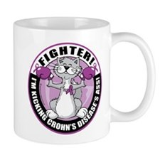 Crohn's Disease Fighter Cat Mug