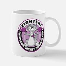 Crohn's Disease Fighter Cat Mug