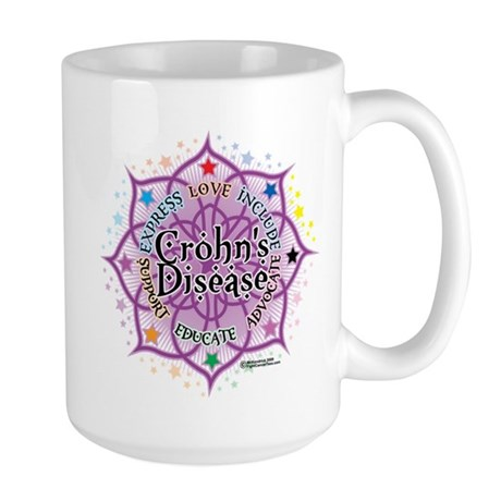 Crohn's Disease Lotus Large Mug