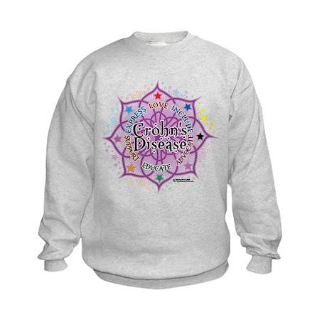 Crohn's Disease Lotus Kids Sweatshirt