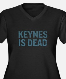 Keynes is Dead Women's Plus Size V-Neck Dark T-Shi