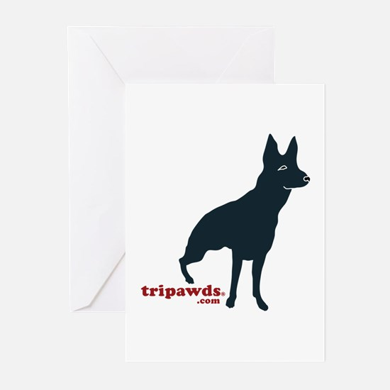 Tripawds Rear Leg GSD Greeting Cards (Pk of 10)