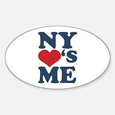 NY Loves Me Sticker (Oval)