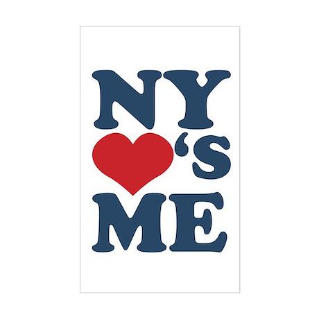 NY Loves Me Sticker (Rectangle)
