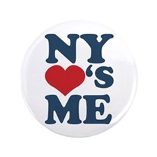 "NY Loves Me 3.5"" Button"