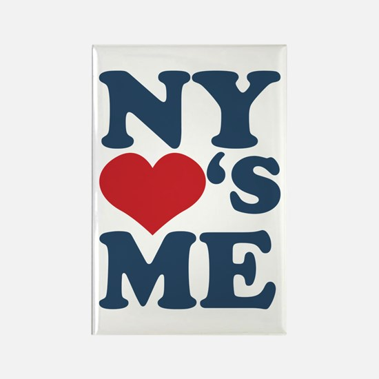 NY Loves Me Rectangle Magnet