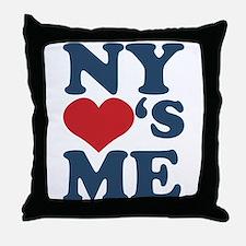 NY Loves Me Throw Pillow