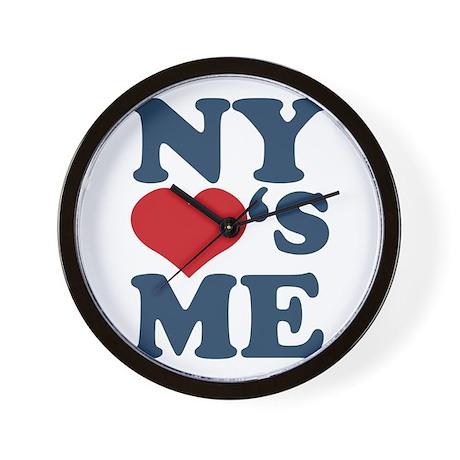 NY Loves Me Wall Clock