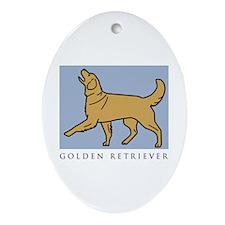 Happy Heeling Golden Ornament (Oval)