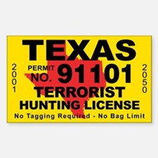 TexasTerrorist Hunting License Stickers