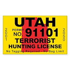 UtahTerrorist Hunting License Decal