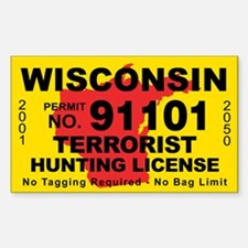 Wisconsin Terrorist Hunting License Decal