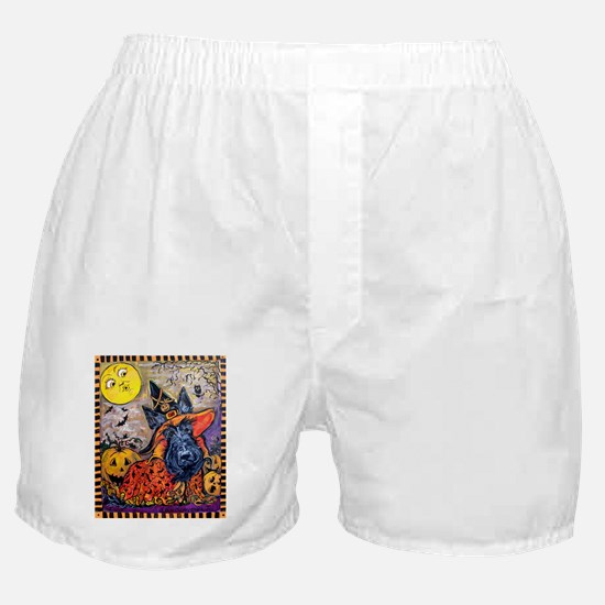 Witch Scottie Halloween Boxer Shorts