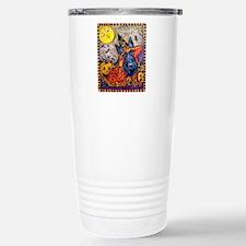 Witch Scottie Halloween Stainless Steel Travel Mug