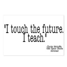 i touch the future i teach Postcards (Package of 8