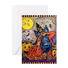 Halloween Scottish Terrier Greeting Card