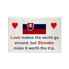 "Slovak Love Magnet (3""x2"")"