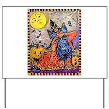 Halloween Scottish Terrier Yard Sign