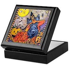 Halloween Scottish Terrier Keepsake Box