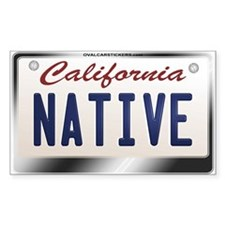 """NATIVE"" California License Plate Sticke"