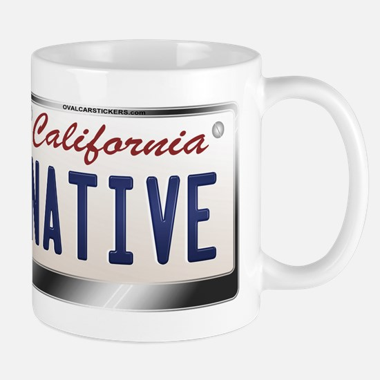"""NATIVE"" California License Plate Mug"
