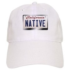 """NATIVE"" California License Plate Baseball Baseball Cap"