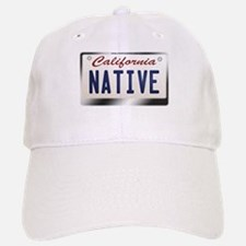 """NATIVE"" California License Plate Baseball Baseball Cap"