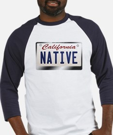 """NATIVE"" California License Plate Baseball Jersey"