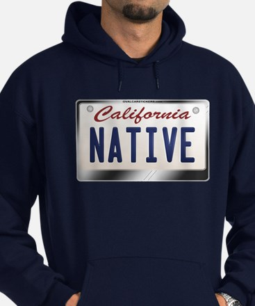 """NATIVE"" California License Plate Hoodie (dark)"