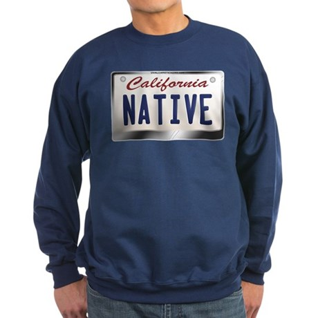 """NATIVE"" California License Plate Sweatshirt (dark"