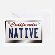 """NATIVE"" California License Plate Greeting Card"