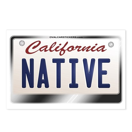 """NATIVE"" California License Plate Postcards (Packa"