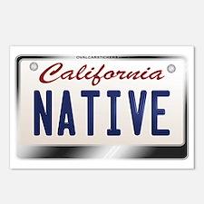 """NATIVE"" California License Plate Postcards (Packa"