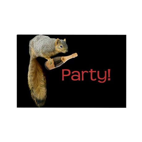 Squirrel Party! Rectangle Magnet