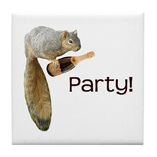 Squirrel Party! Tile Coaster