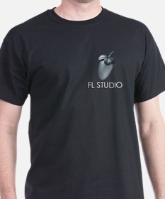 Black T-Shirt with Gray Fruit & title on Pocket