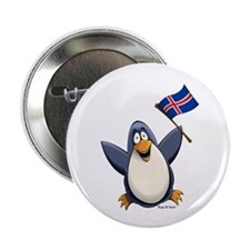 "Iceland Penguin 2.25"" Button (10 pack)"